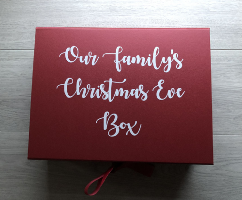 Red  A4 folding Christmas Eve Box